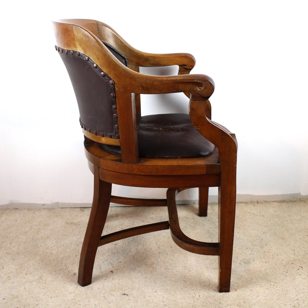 ... ANTIQUE DESK CHAIR Walnut ...