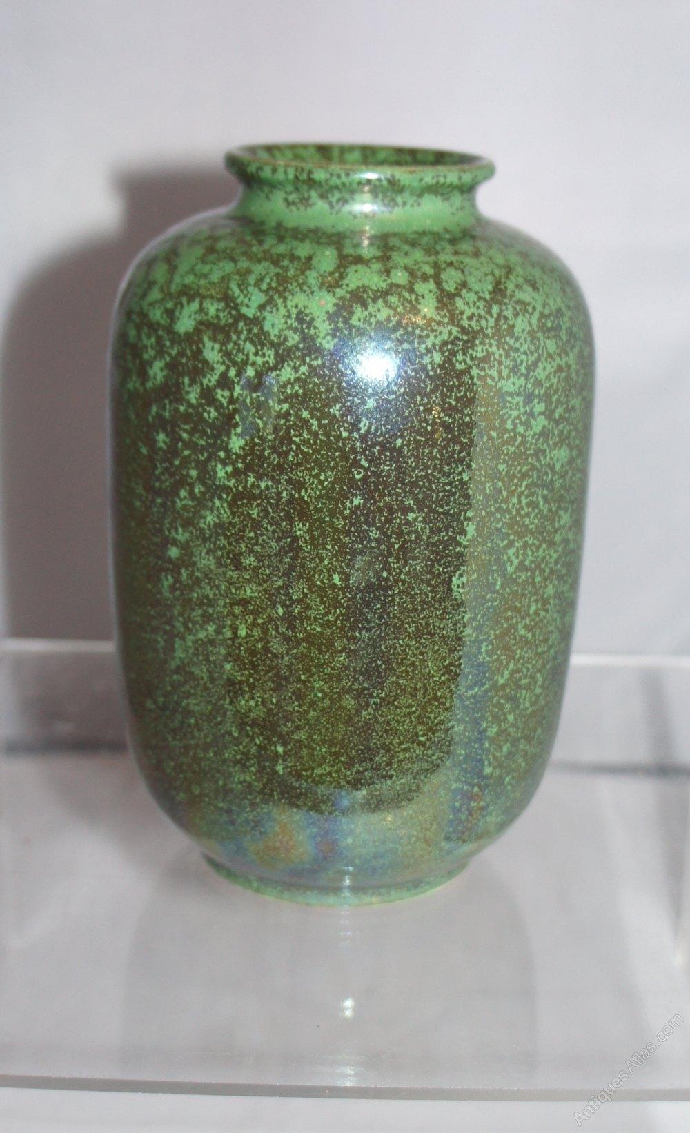Antiques Atlas A Perfect Ruskin Tea Dust Green Lustre Glaze Vase
