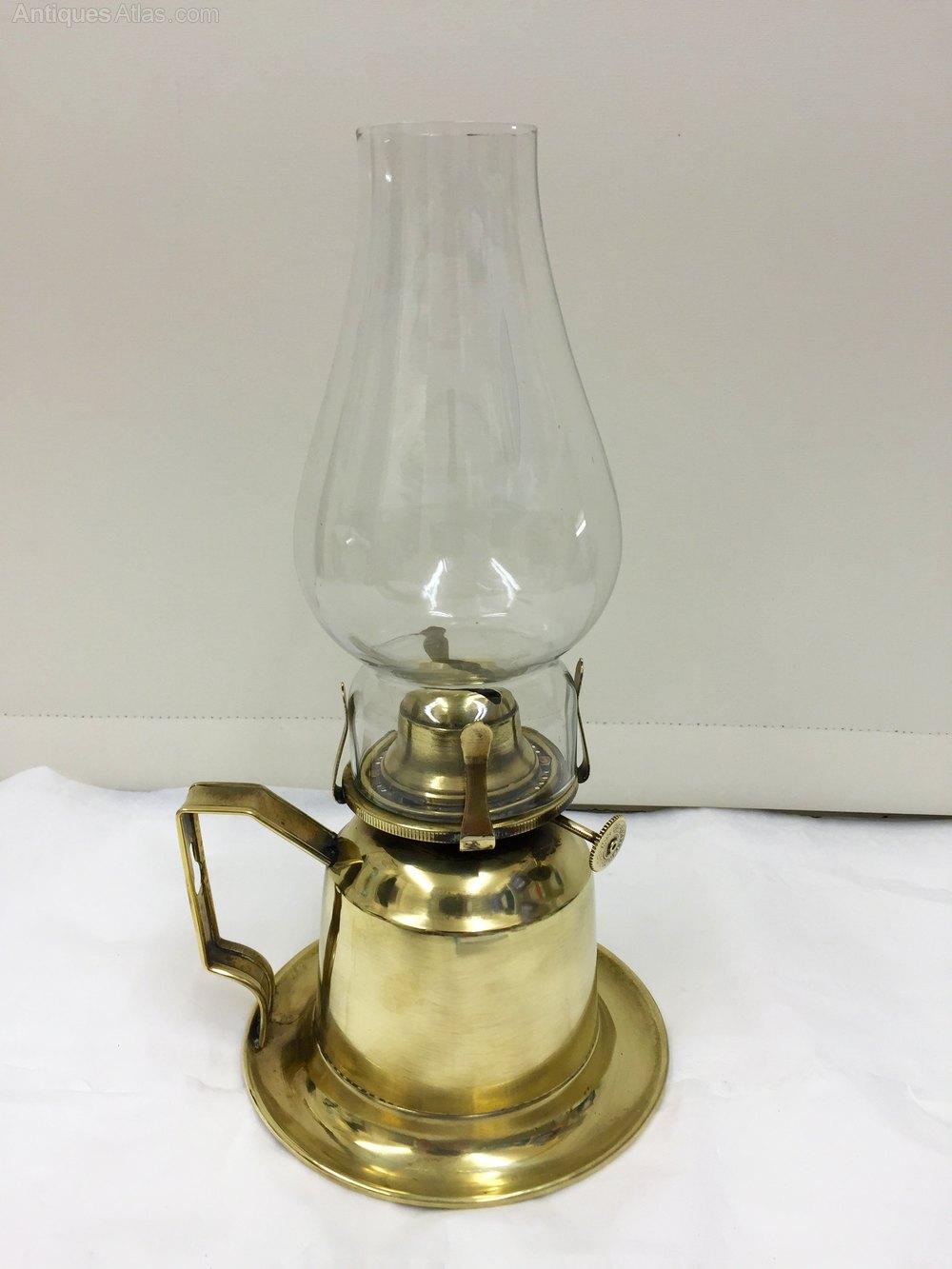 Antiques Atlas Antique Brass Chamber Oil Lamp Circa 1885