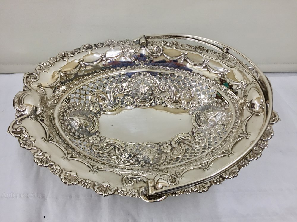 ... Antique Silver Plated Cake Stands ... & Antiques Atlas - Antique Silver Plated Pedestal Cake Basket Circa 1
