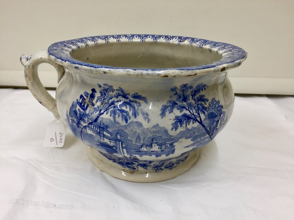 Antiques Atlas Blue And White Transfer Pottery Chamber Pot