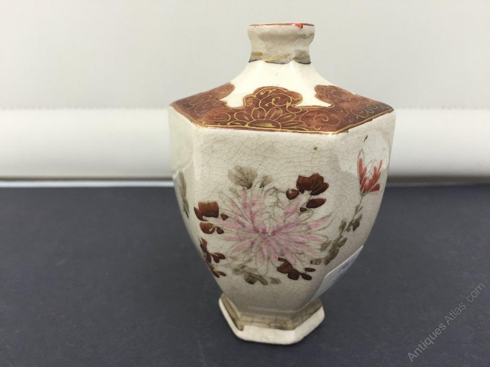 Antiques Atlas Japanese Porcelain Satsuma Porclean Vase Circa1890