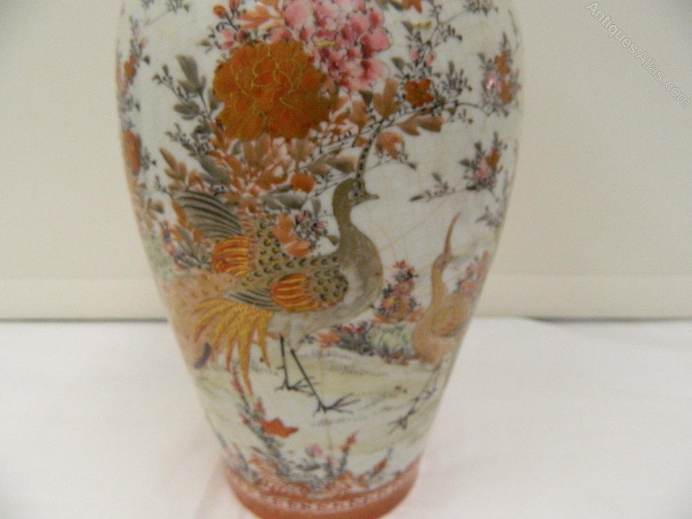 Antiques Atlas Large Kutani Porcelain Vase Circa 1890