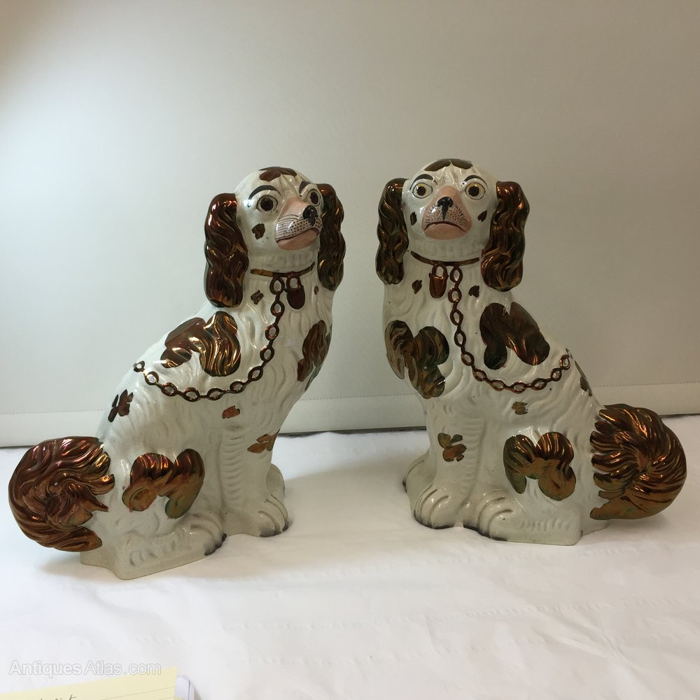 Pair Victorian Staffordshire Pottery