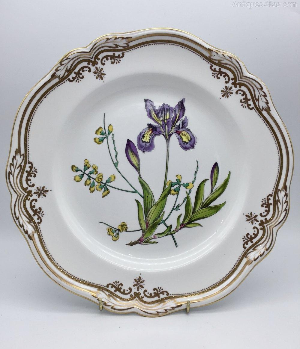 Antiques Atlas   Pr Spode Speciman Plates Stafford Flowers