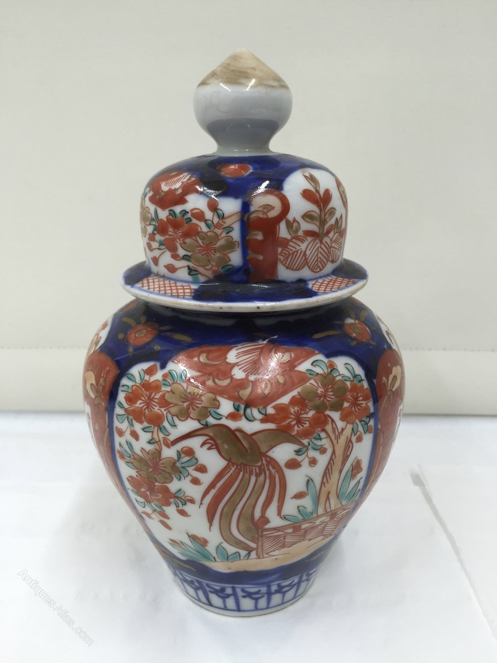 Antiques atlas small imari temple jar cover circa 1870 small imari temple jar cover circa 1870 imari reviewsmspy