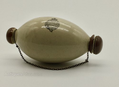 Antiques Atlas - Stoneware Queens Muff Warmer Hot Water Bottle