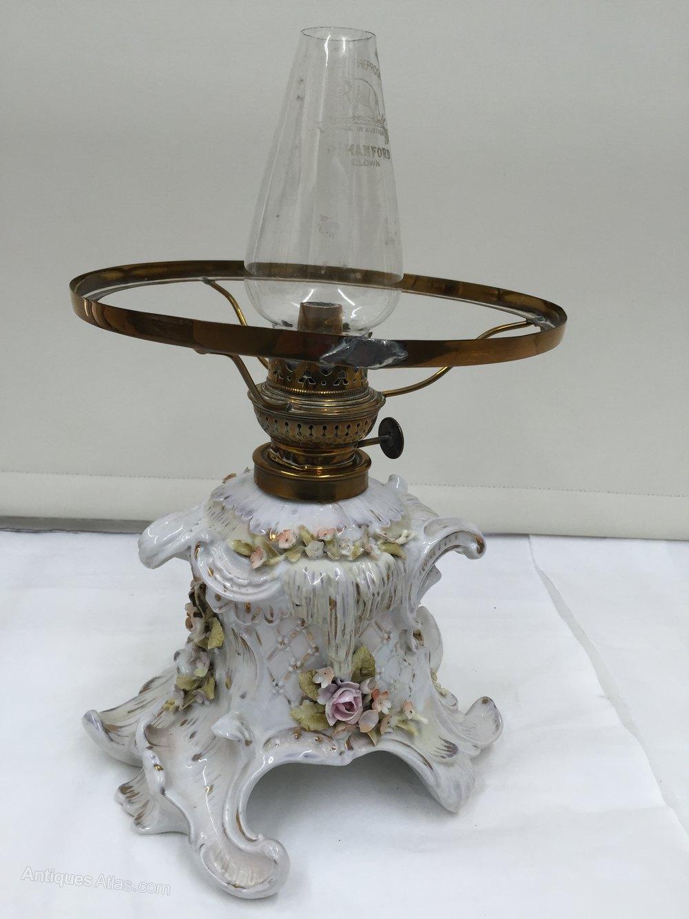 Antiques Atlas Volkdstet Porcelain Oil Lamp Circa 1870
