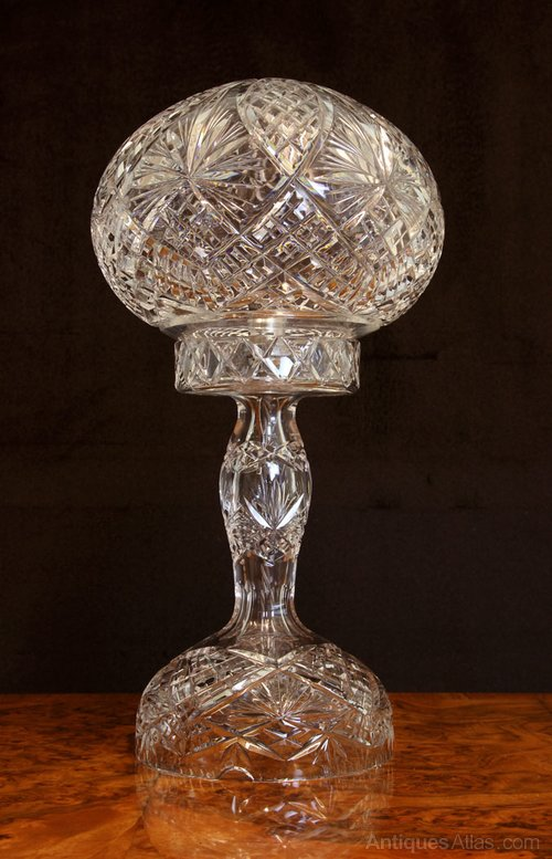 Antiques Atlas Antique Cut Crystal Table Lamp