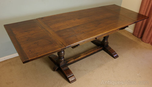 Antique Farmhouse Oak Refectory Dining Table
