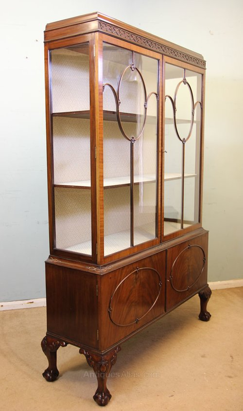 Antique Mahogany China Display Cabinet Antique Display Cabinets ...