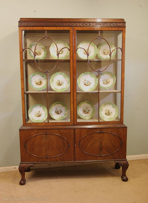 Antique Mahogany China Display Cabinet