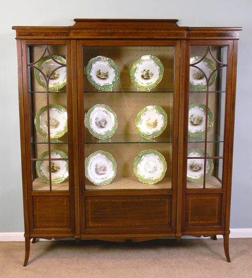 Superieur Antique Mahogany China Display Cabinet ...