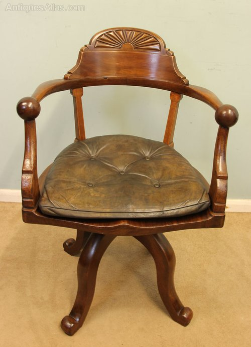 vintage swivel chairs antique mahogany swivel desk chair antiques atlas 3259