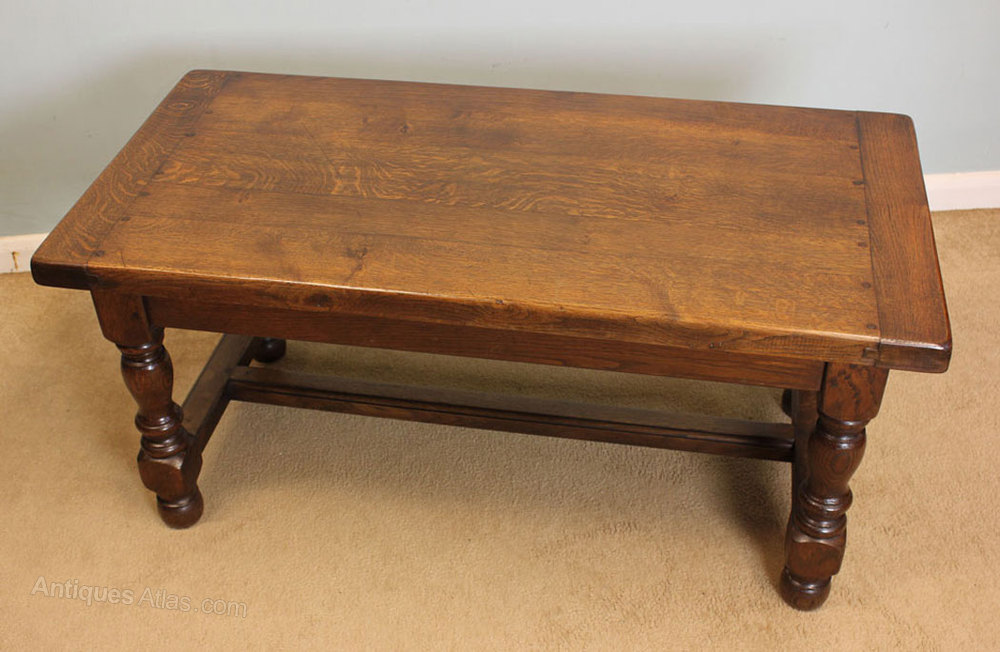 Antique Oak Coffee Table Low Occasional Table Antiques Atlas