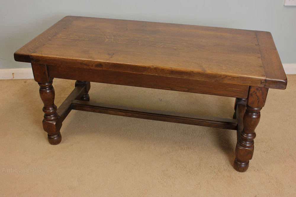 Antique Oak Coffee Table, Low Occasional Table ...