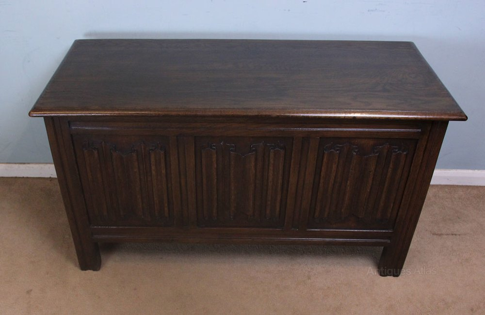 Antique Oak Coffer Blanket Chest Coffee Table Coffers
