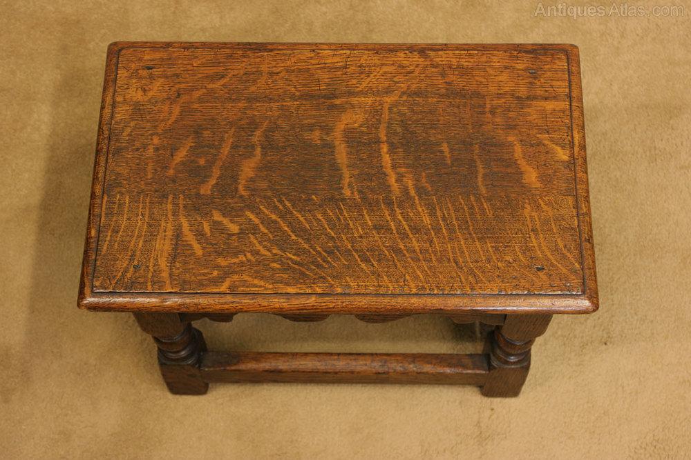 Antique Oak Footstool Low Table Antiques Atlas