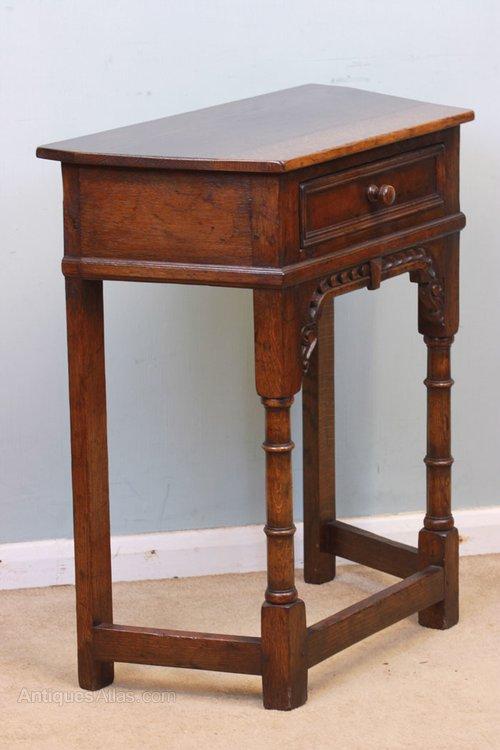 antique oak small side table antique side tables - Small Antique Side Tables