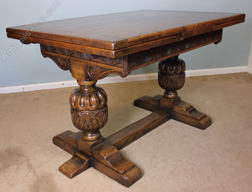 Antique Refectory Draw Leaf Dining Table