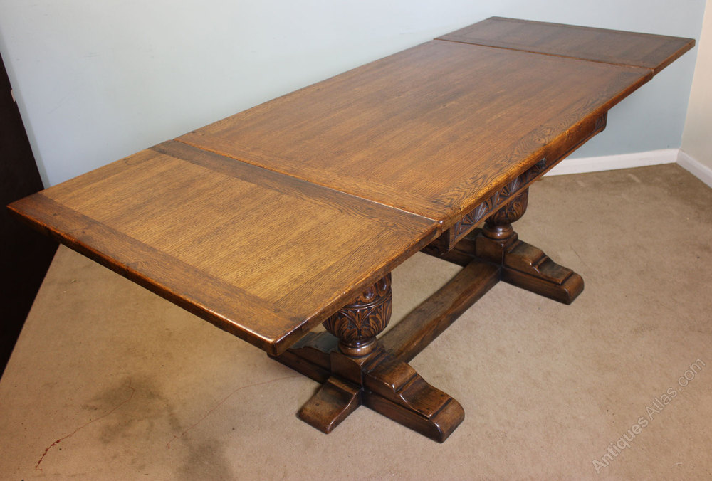 Antique Refectory Draw Leaf Dining Table Antiques Atlas