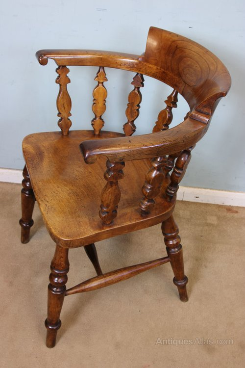 Antique Smokers Bow Windsor Chair Antique Windsor Chairs ... - Antique Smokers Bow Windsor Chair - Antiques Atlas