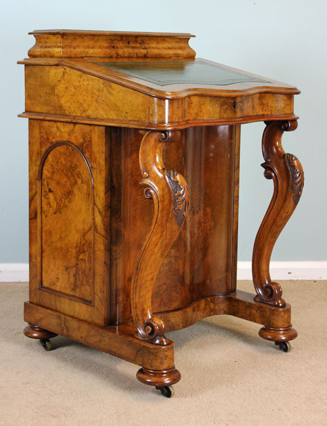 Antique Victorian Walnut Davenport Writing Desk ... - Antique Victorian Walnut Davenport Writing Desk - Antiques Atlas