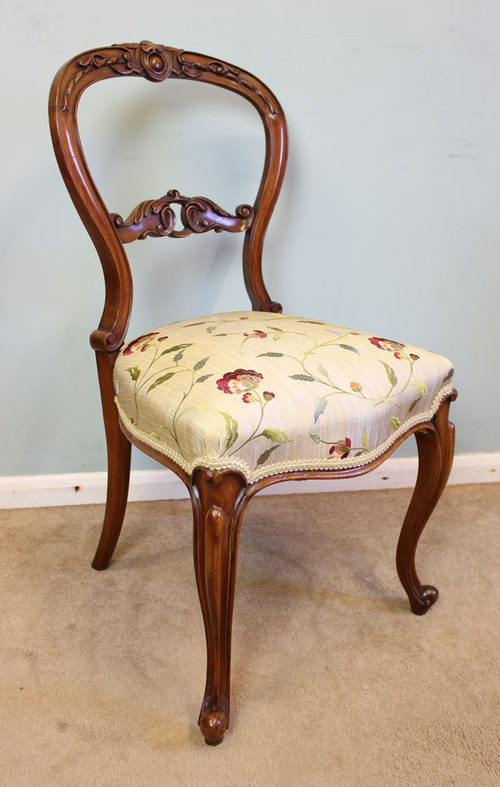 Antique Victorian Walnut Side Chair ... - Antique Victorian Walnut Side Chair - Antiques Atlas