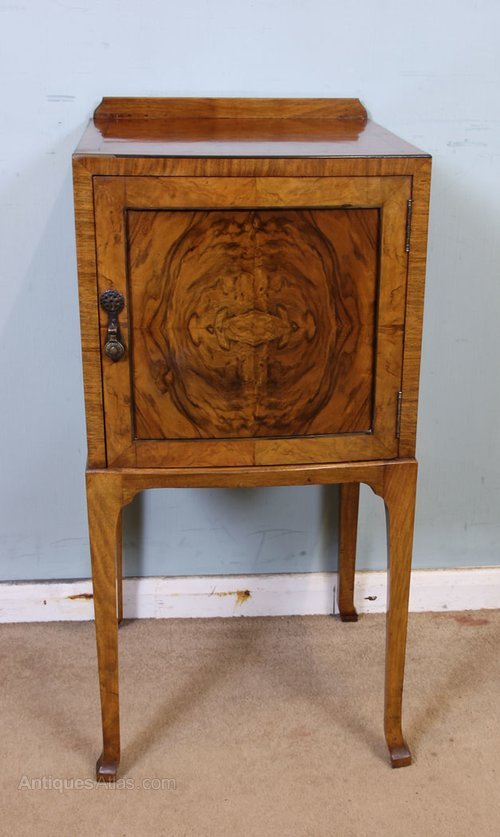 Antique Walnut Side Cabinet ... - Antique Walnut Side Cabinet - Antiques Atlas