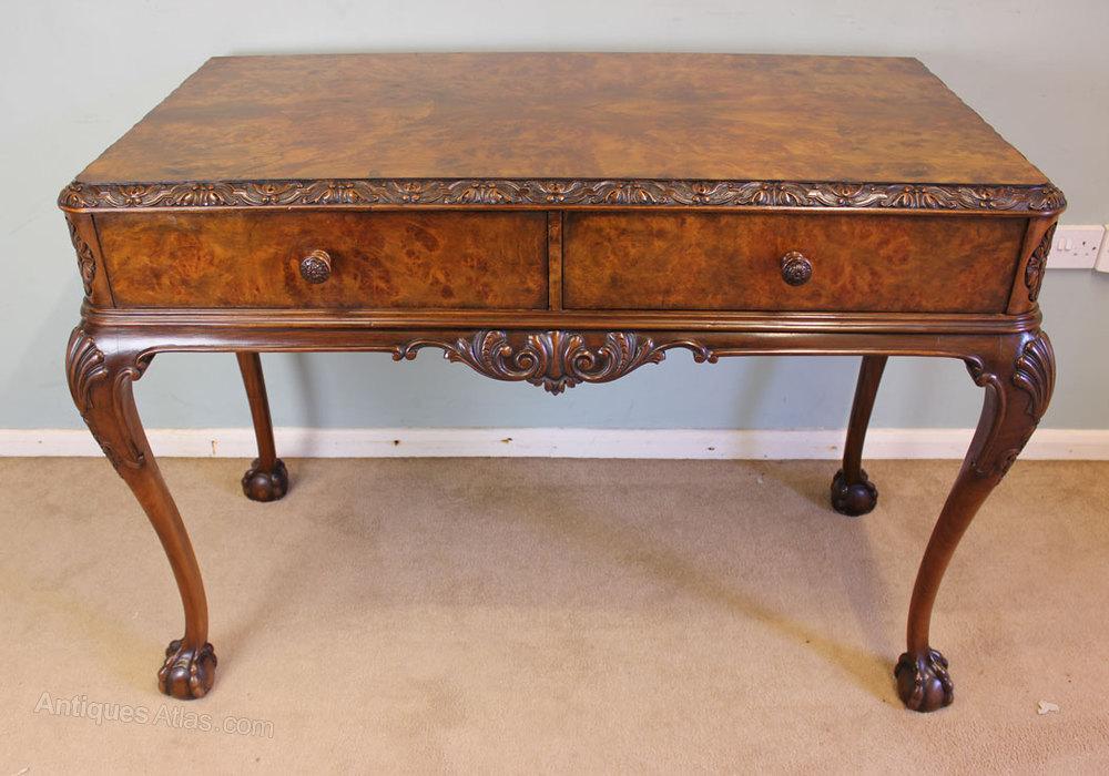 Antique Walnut Side Table Server ... - Antique Walnut Side Table Server - Antiques Atlas