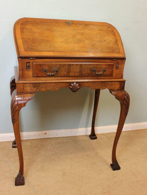 Antique Walnut Writing Bureau ... - Antique Walnut Writing Bureau - Antiques Atlas
