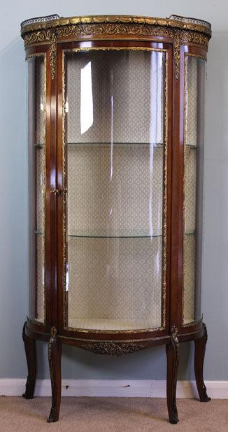 Merveilleux Antique Vitrine Glass Display Cabinet ...