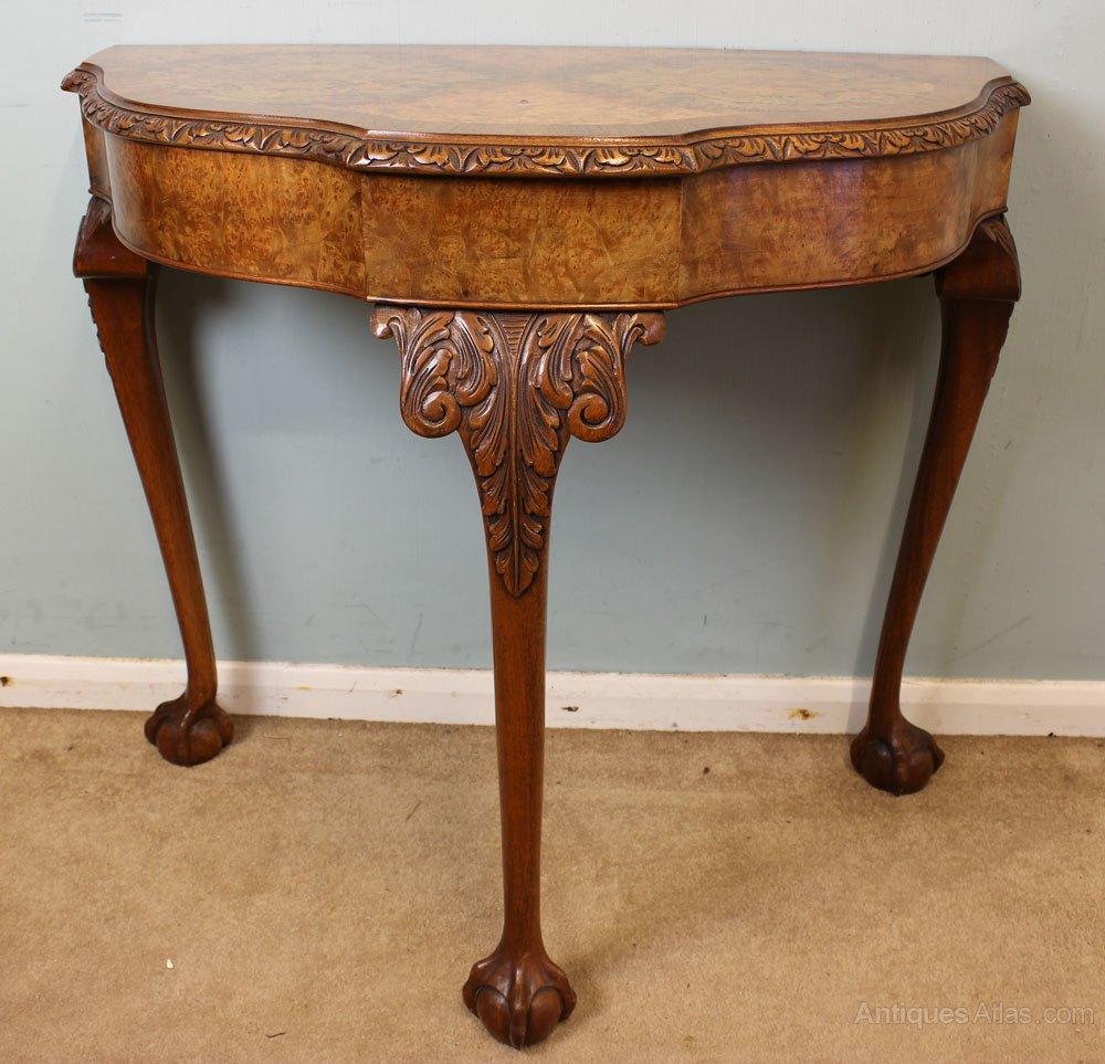 Beautiful ... Hall Table Antique Console Tables Antique Burr Walnut %%alt5%% ...
