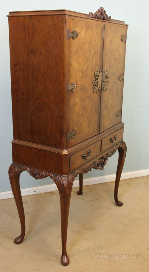antiquing cabinets burr walnut cocktail drinks cabinet antiques atlas 10696