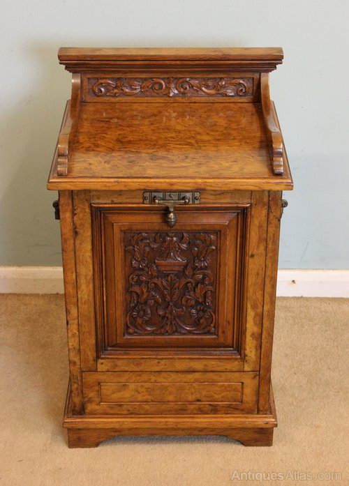 Victorian Pollard Oak Coal Box
