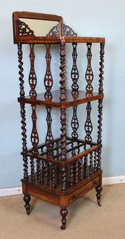 ... Antiques Victorian Rosewood Canterbury