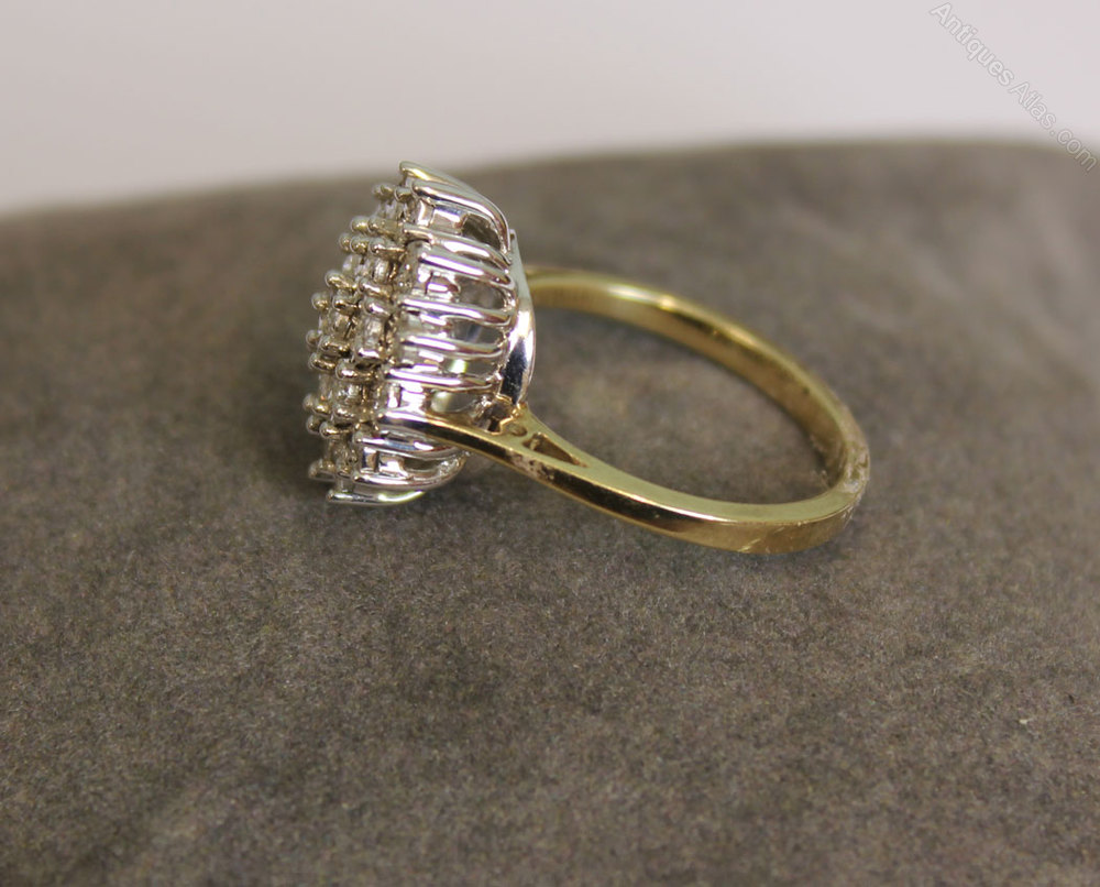Vintage Diamond Cluster Ring Antique Diamond Rings Vintage Diamond