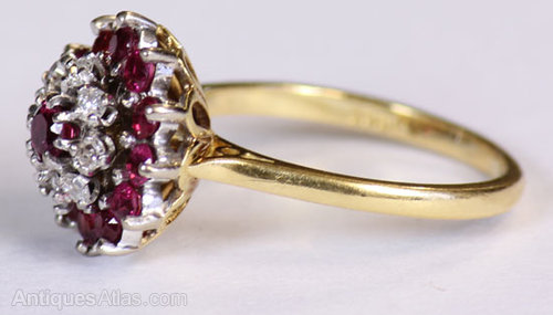 Antique Gold Ruby And Diamond Ring