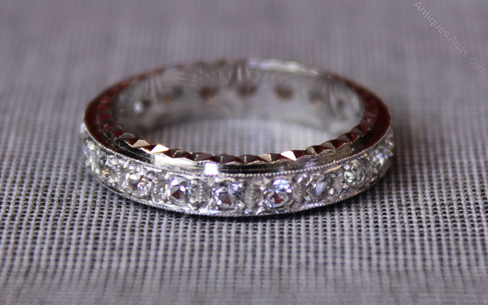 0eb03fe0aee7a Vintage White Gold Eternity Ring