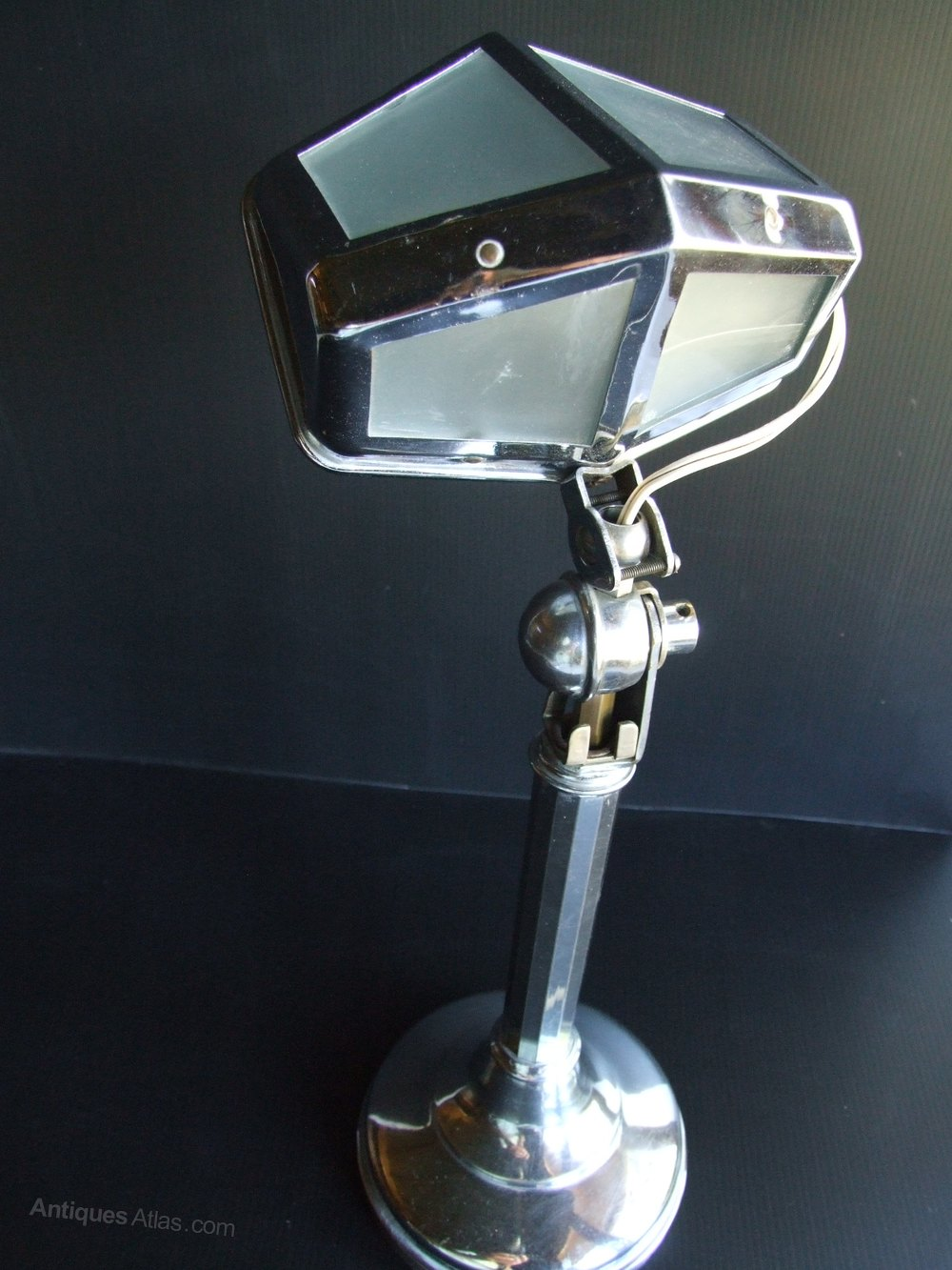 Used Desk For Sale >> Antiques Atlas - Art Deco Desk Lamp By Pirouette.