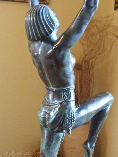 Antiques Atlas Lamp By Max Le Verrier Danseuse A La Coupe