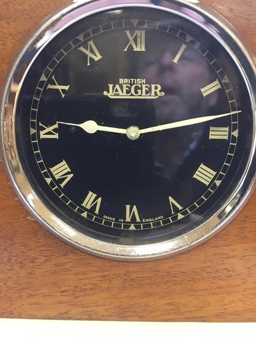 "We Buy Any Car Com >> Antiques Atlas - Bentley Dash Clock By ""British Jaeger"" C1927"