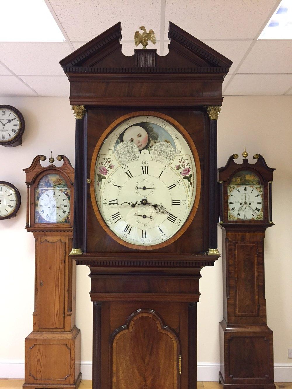 Antiques Atlas - C1790 Rare Oval Dial Antique Longcase Clock