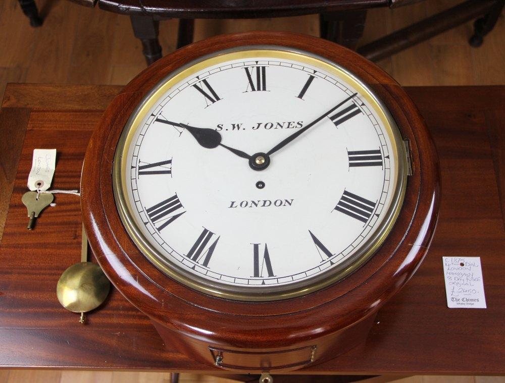 Antiques Atlas 14inch Dial Clock C 1835 40