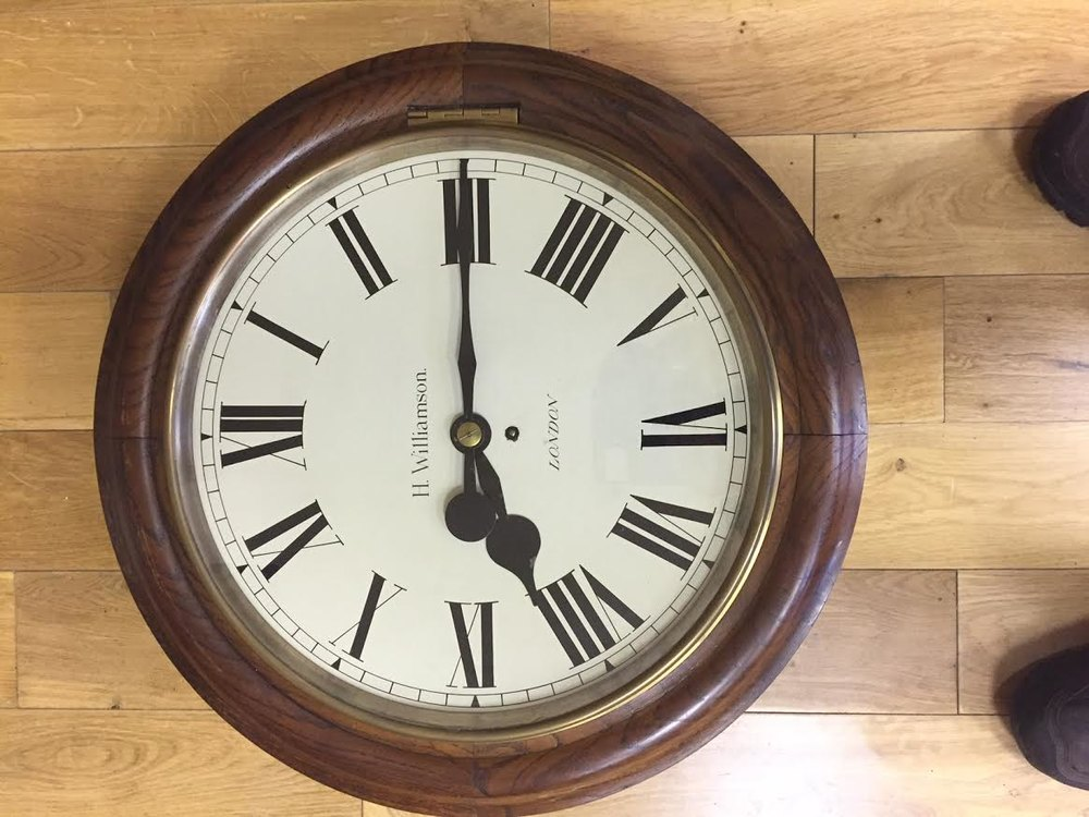 Antiques Atlas Large Fusee Wall Clock C1870