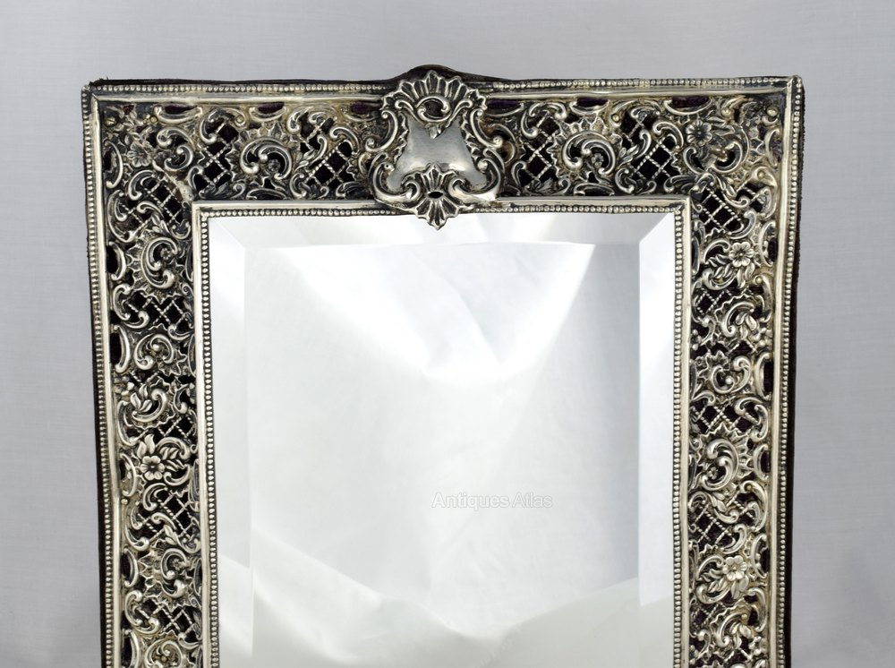 Antiques Atlas Lovely Silver Dressing Table Mirror Henry