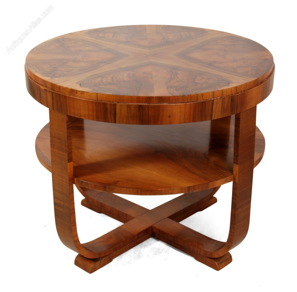 Art deco coffee table in walnut c1930 antiques atlas for Art deco coffee table