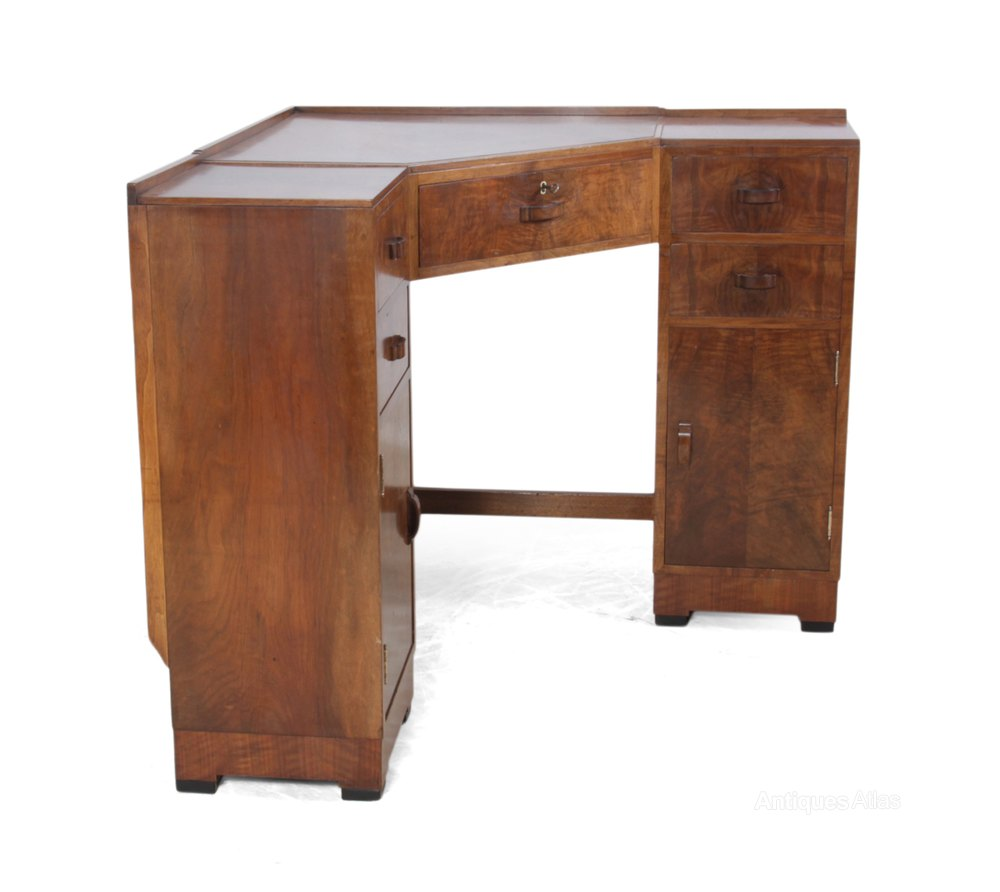 Superb Art Deco Corner Desk and Chair by Heals