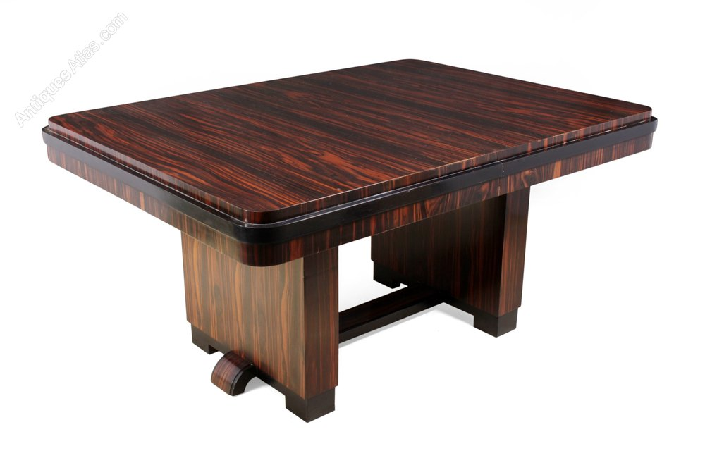 Art Deco Dining Table In Macassar Ebony ...
