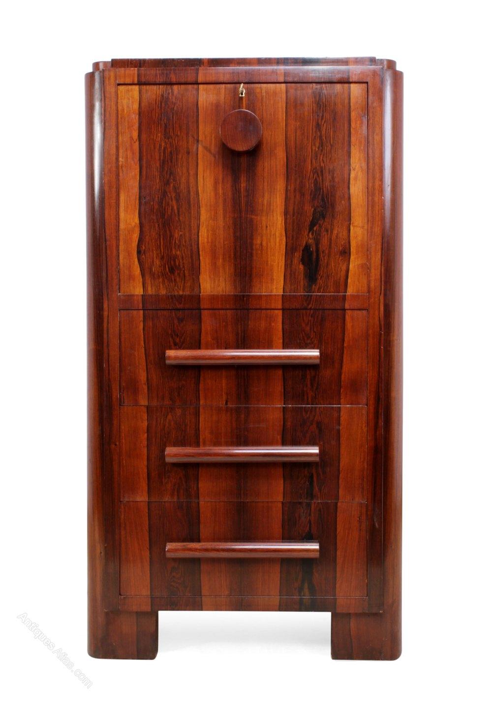 art deco rosewood bureau c1930 antiques atlas. Black Bedroom Furniture Sets. Home Design Ideas